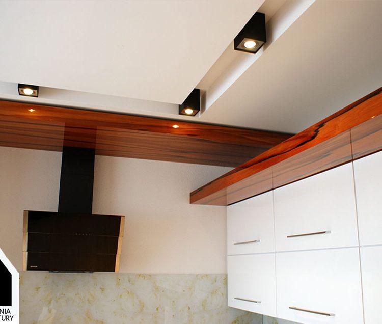 Projekt aranżacji wnętrz kuchni w domku jednorodzinnym - Mszana Wodzisław Śl.