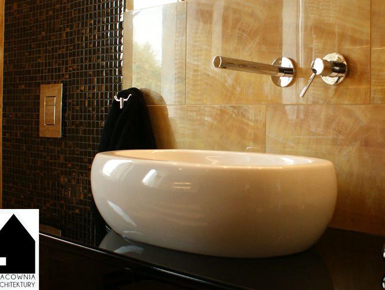 Projekt aranżacji wnętrz łazienki w domku jednorodzinnym - realizacja Mszana/Wodzisław Śl.