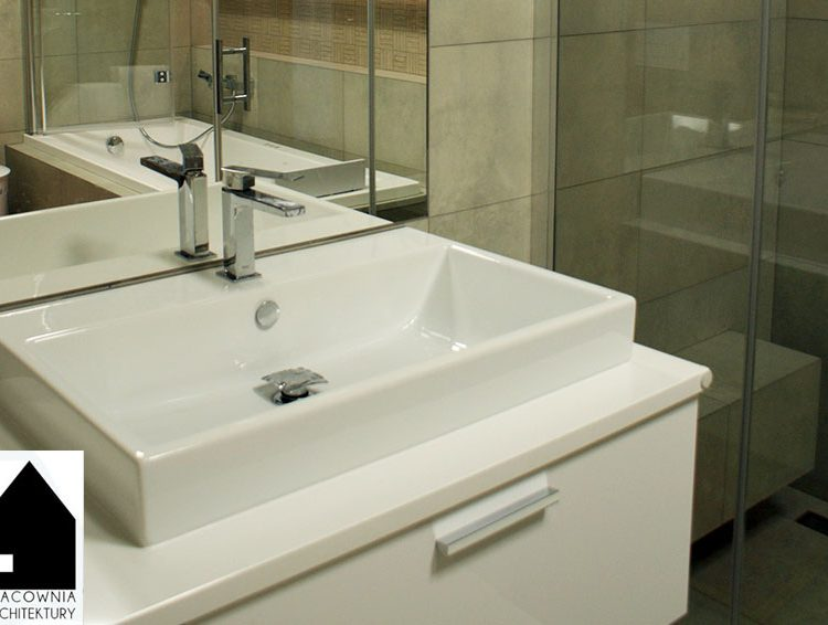 Projekt aranżacji łazienki - Rybnik osiedle Łąkowa