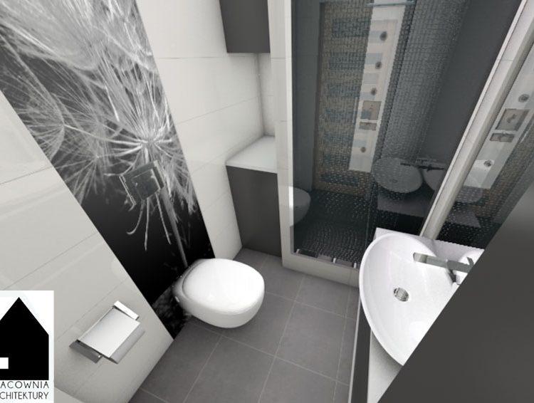 Projekt łazienki o powierzchni 3m2